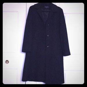 Black Wool Winter Coat